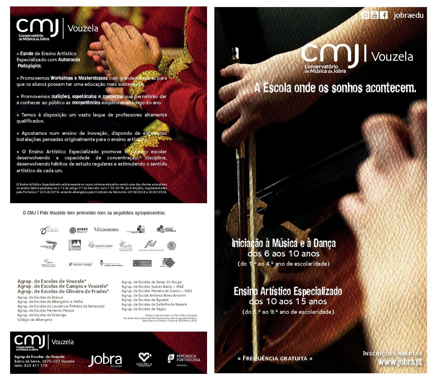 Read more about the article Abertura de inscrições no Conservatório de Música Jobra – Pólo de Vouzela